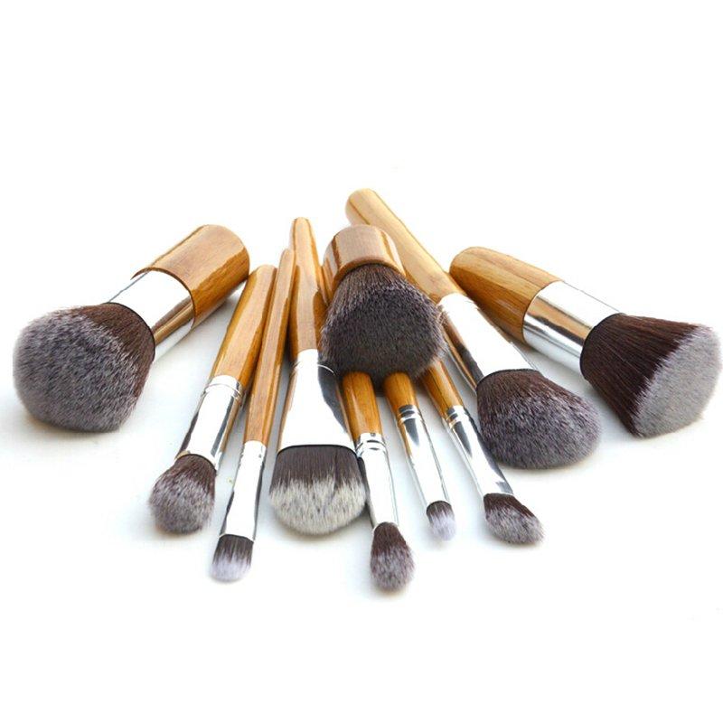 Brush Hut: 11PC Bamboo Makeup Brush Set