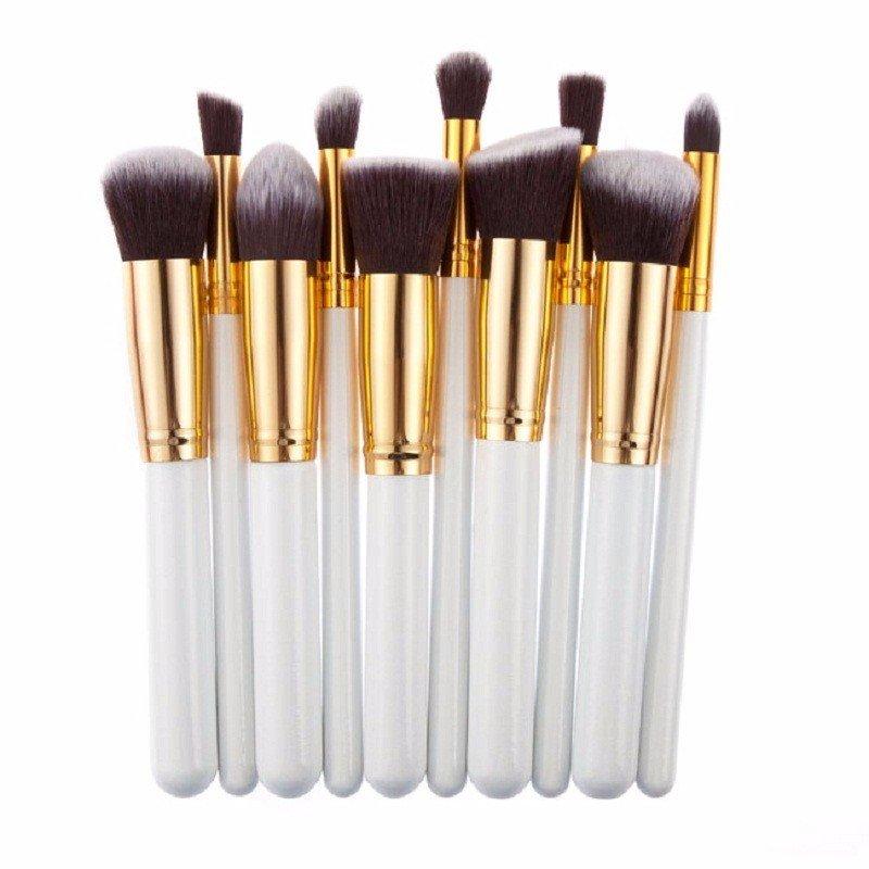 Brush Hut: 10pc Makeup Brush Set - White