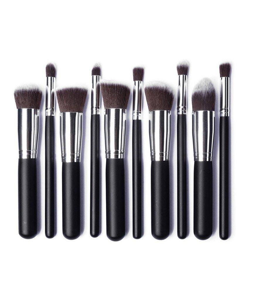 Brush Hut: 10pc Makeup Brush Set - Black