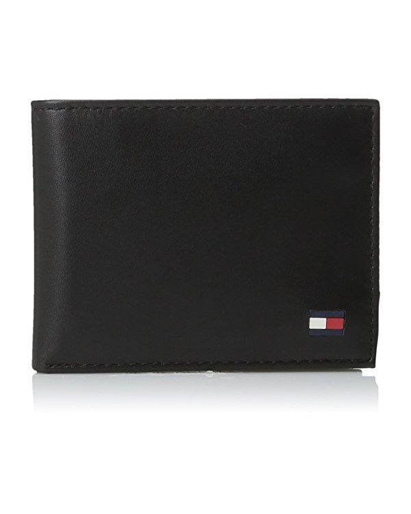 ccb634d53 Tommy Hilfiger Men s Leather Dore Passcase Billfold Wallet with Removable  Card Holder