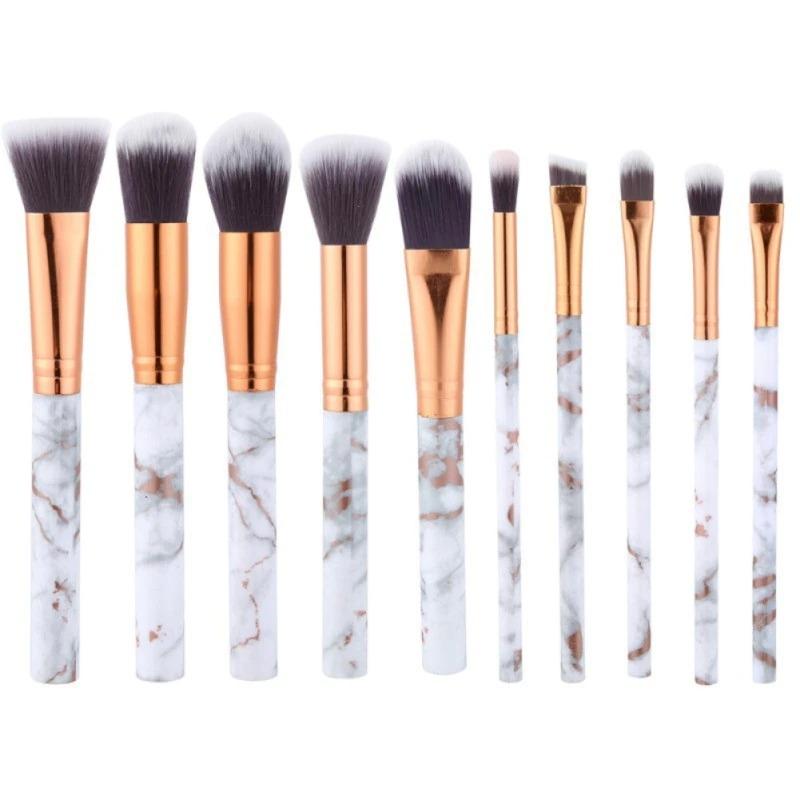 MAANGE 10pc Marble Makeup Brush Set