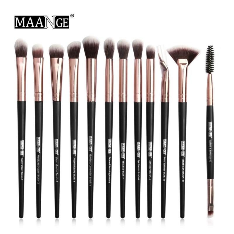 Brush Hut: MAANGE 12PC Professional Detail Blending Makeup Brush Set